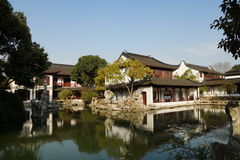 Suzhou traditional garden;Suzhou Gardens;. Suzhou garden is refers to the Chinese city of Suzhou landscape architecture, mainly private gardens began in the Royalty Free Stock Image