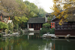 Gardens in Suzhou, China. Suzhou garden is refers to the Chinese city of Suzhou landscape architecture, mainly private gardens began in the spring and Autumn Stock Photos