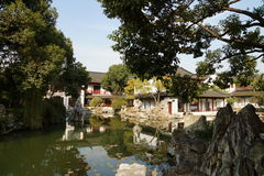 Suzhou traditional garden;Suzhou Gardens;. Suzhou garden is refers to the Chinese city of Suzhou landscape architecture, mainly private gardens began in the Royalty Free Stock Photo