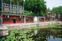 Suzhou gata i sommarslott Arkivbilder