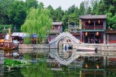 Suzhou gata i sommarslott Royaltyfri Bild
