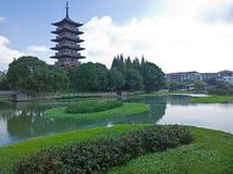 Suzhou Guta scenic Stock Photo