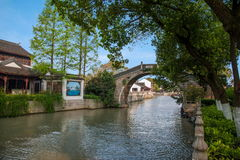 Suzhou Hanshan Temple Garden Village Bridge Royalty Free Stock Photo