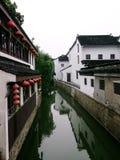 Suzhou Jiangnan region av floder och sjöar Arkivfoton