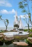 Suzhou Jinji Lake City sculpture --- water droplets Stock Photos