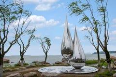 Suzhou Jinji Lake City sculpture --- water droplets Stock Images
