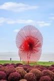 Suzhou Jinji Lake City Sculpture --- Windmill Stock Photo