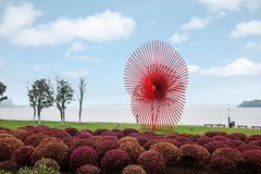 Suzhou Jinji Lake City Sculpture --- Windmill Royalty Free Stock Images