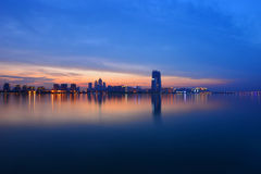 Suzhou Jinji Lake. Eastphoto, tukuchina, Suzhou Jinji Lake, City, nightscape Royalty Free Stock Image