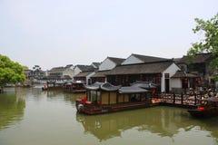 Suzhou-Kanal und alte Stadt Reise in Suzhou-Stadt, China im Jahre 2009 Lizenzfreie Stockfotos