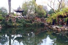 SuZhou liuyuan garden at autumn Royalty Free Stock Photo
