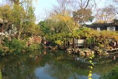 SuZhou liuyuan garden at autumn Stock Photos