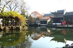 SuZhou liuyuan garden at autumn Stock Photo