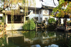 SuZhou liuyuan garden at autumn Stock Images