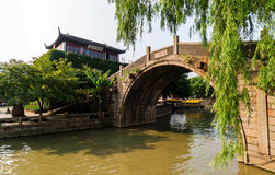 Suzhou Maple ancient architecture Royalty Free Stock Photo