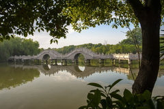 Suzhou Maple ancient architecture Stock Image