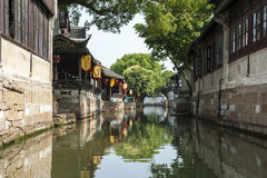 Suzhou Maple ancient architecture Royalty Free Stock Photos
