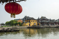 Suzhou Maple ancient architecture Stock Images