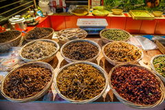 Suzhou miasta Luzhi antycznego miasteczka handlowej ulicy jedzenie Zdjęcia Royalty Free