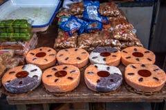 Suzhou miasta Luzhi antycznego miasteczka handlowej ulicy jedzenie Fotografia Royalty Free