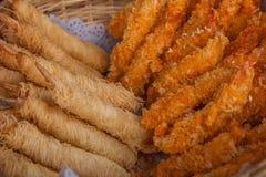 Suzhou miasta Luzhi antycznego miasteczka handlowej ulicy jedzenie Zdjęcie Stock