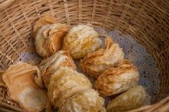 Suzhou miasta Luzhi antycznego miasteczka handlowej ulicy jedzenie Zdjęcie Royalty Free