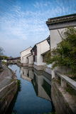 Suzhou miasto antyczny miasteczko Lu mostów ludzie Zdjęcie Royalty Free