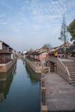 Suzhou miasto antyczny miasteczko Lu mostów ludzie Obraz Royalty Free
