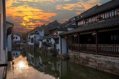 Suzhou miasto antyczny miasteczko Lu mostów ludzie Obraz Stock
