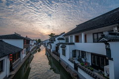Suzhou miasto antyczny miasteczko Lu mostów ludzie Zdjęcie Stock