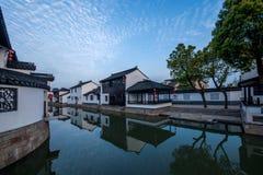 Suzhou miasto antyczny miasteczko Lu mostów ludzie Fotografia Stock