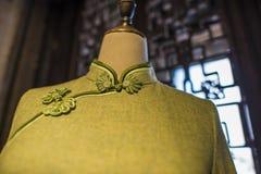 Suzhou tsu silk qipao. stock photos