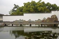 Suzhou Museum and reflection stock image