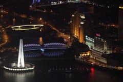 Suzhou-Nebenfluss nachts, Shanghai Lizenzfreie Stockfotos