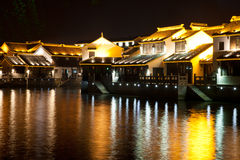 Suzhou at night Royalty Free Stock Photos