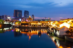 Suzhou night scene. Beautiful night scene of the city Suzhou, China Stock Photography