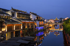 Suzhou at night Stock Photography