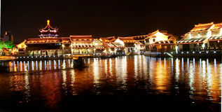 Suzhou night view Stock Image
