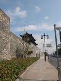 Suzhou porcelana miasto ściana obrazy royalty free
