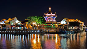 Suzhou Shantang nightview Royalty Free Stock Image