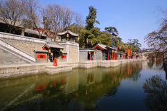 SuZhou street in summer Palace. The Summer Palace is  the most famous  emperor garden in china.in summer palace ,Suzhou Street, built in 1760, is one for the Royalty Free Stock Photography
