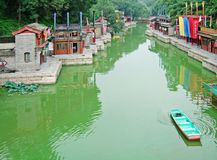 Suzhou Street in the Summer Palace Royalty Free Stock Images