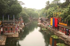 Suzhou Street in Summer Palace, Beijing Royalty Free Stock Photo