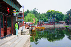 Suzhou Street in Summer Palace Royalty Free Stock Photo