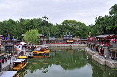 Suzhou Street in The Summer Palace. This street building which is in the Summer Palace is the imitation of the garden of Suzhou.The Summer Palace which used to royalty free stock images