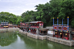 Suzhou Street in The Summer Palace. This street building which is in the Summer Palace is the imitation of the garden of Suzhou.The Summer Palace which used to stock photos