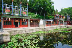 Suzhou Street in Summer Palace Stock Images