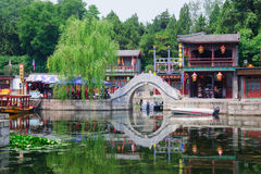 Suzhou Street in Summer Palace Royalty Free Stock Image