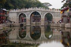 Suzhou Targowy Ulicy Most - Lato Pałac Obrazy Royalty Free
