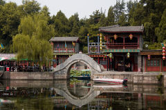 Suzhou Targowy Ulicy Most - Lato Pałac Zdjęcie Royalty Free